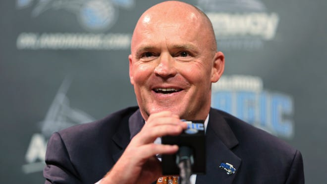 Orlando Magic coach Scott Skiles speaks during a news conference Friday, May 29, 2015, in Orlando.