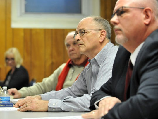 Lancaster City Council President Bob Hedges speaks