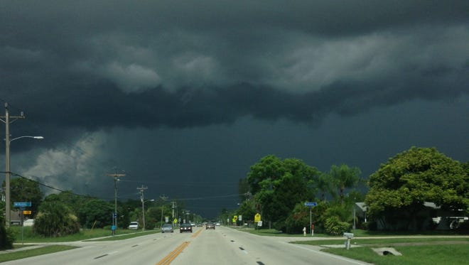 Weather over Fort Myers, Tuesday morning.