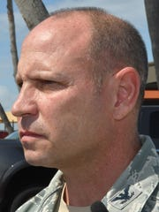 Colonel Kurt Matthews, commander of the 920th Rescue Wing. Patrick Air Force Base invited the media on base on Monday to talk about the tragic loss of Air Force Reserve airmen Sgt. William Posch and Staff Sgt. Carl Enis, both with the 308th Rescue Squadron, who were among the seven killed on March 15 in a helicopter crash in Iraq.