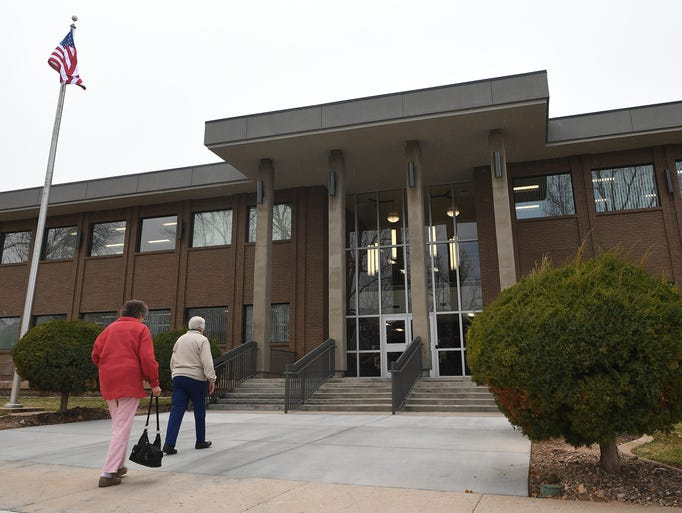 Guests attend the open house of the Iron County Courthouse