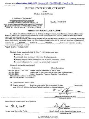 FBI Search Warrant