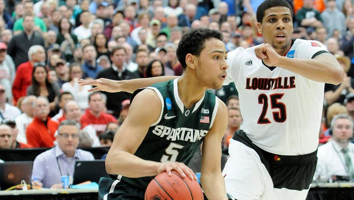 Michigan State guard Bryn Forbes had two late shots
