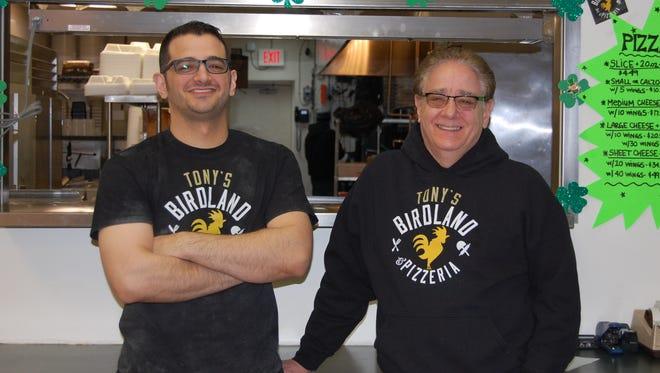Tony's Birdland and Pizzeria co-owners, R.J. and Ron Trapani.