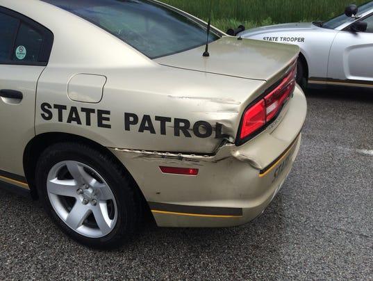 New Video Iowa State Trooper Hit By Semi On I 80