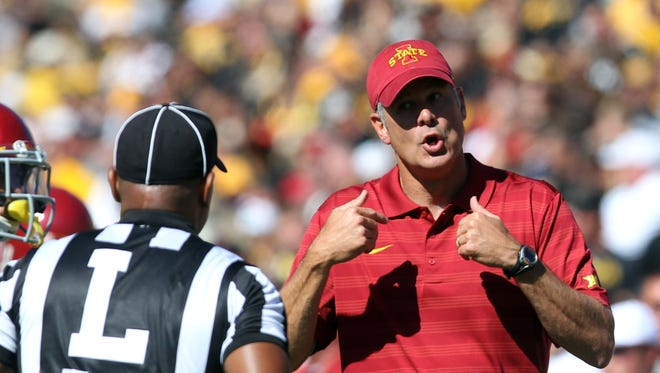 Iowa State coach Paul Rhoads and the Cyclones play host to No. 7 Baylor on Saturday.