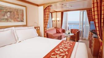 A Deluxe Veranda Suite on Regent's Seven Seas Mariner.