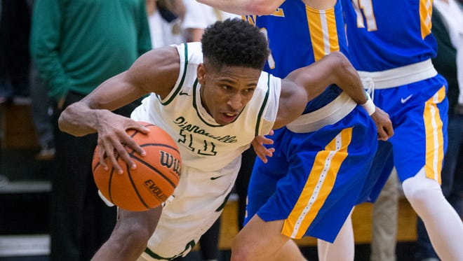 Isaiah Thompson of Zionsville High School, Carmel at Zionsville boys basketball, Zionsville, Tuesday, Nov. 21, 2017. Zionsville won 68-62.