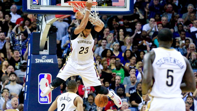New Orleans Pelicans forward Anthony Davis (23) has another big game, this time 45 vs. Golden State.