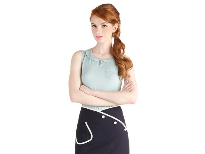 Sail into nautical style this season. Sailor Swift skirt, $33.99 at modcloth.com. (Gannett/File)