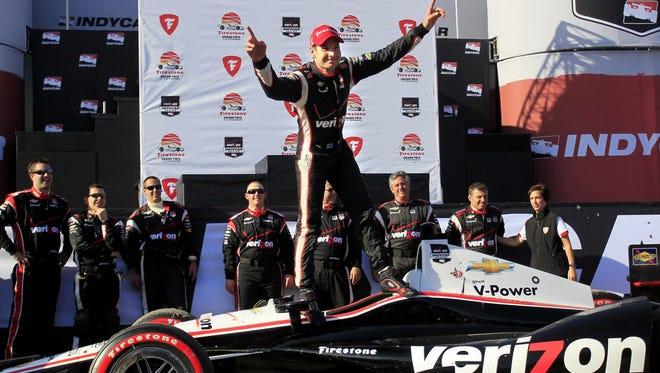 Will Power won last year's season-opening race in St. Petersburg, Fla.