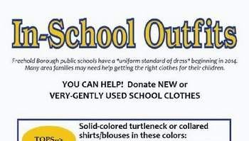 Clothing-drive informational flyer