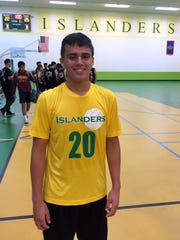 Billy Belger led the John F. Kennedy Islanders in their defeat over the Father Duenas Friars 25-13, 25-22 at home on Tuesday, April 12.
