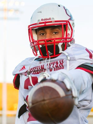 "Southern Utah running back Janiero ""Jay"" Green Jr. (21) poses for a photo after practice on Tuesday, September 19, 2017."