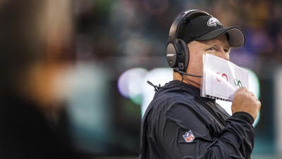 Eagles coach Chip Kelly has led the Eagles to a record of 24-18 since taking over in 2013.