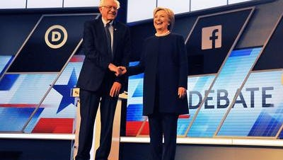 Bernie Sanders and Hillary Clinton are seeking the Democratic presidential nomination.