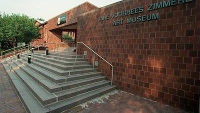 Exterior of the Jane Voorhees Zimmerli Art Museum in New Brunswick