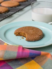 Chewy molasses cookies in New York. This dish is from a recipe by Katie Workman.
