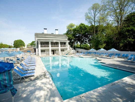 Forsgate Country Club's pool area available for members.
