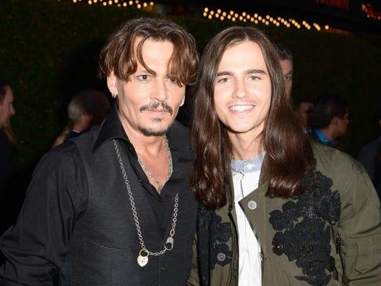 Johnny Depp and Anthony De La Torre together on the