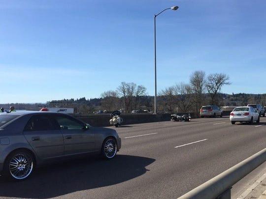 Crash on Marion Street Bridge