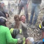 Watch: Girl trapped for 17 hours rescued after Italy quake
