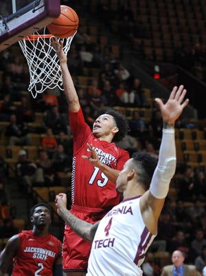 Erik Durham has started 48 games in his two seasons at Jacksonville State, with a  scoring average of 11.1 points per game as a senior.