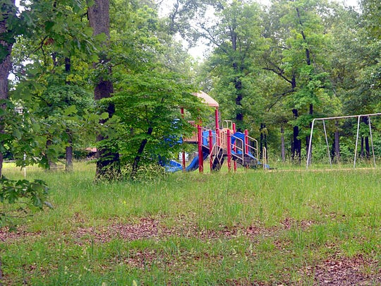 Playground equipment and swings already are in place for youngsters at Dam Site Park.