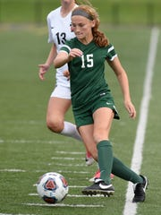 Novi's Avery Fenchel during the Div. 1 semifinal game won by Novi 4-1 on June 12 at Stoney Creek High School.