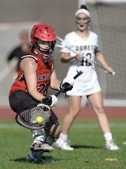 Penfield goalie Laina Brozost makes a save during the