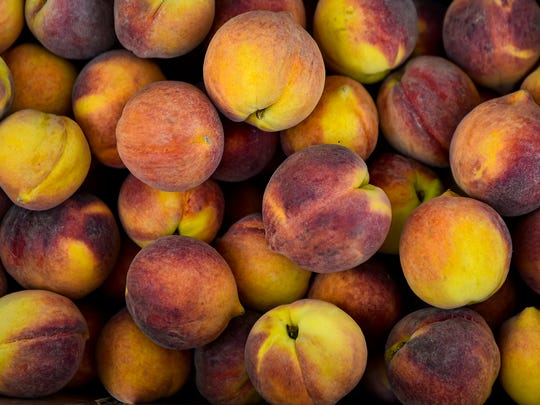 These peaches were grown at Pearson Farm in Fort Valley, Georgia. At more than 130 years old, it's the oldest family owned and operated farm in Georgia. The Peach Truck, which made a stop Monday in Marion, only sells peaches grown at Pearson Farm.