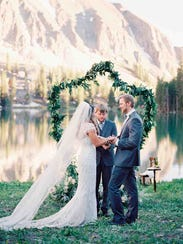 Ruidoso residents McKenzie and Brandon Autry's wedding