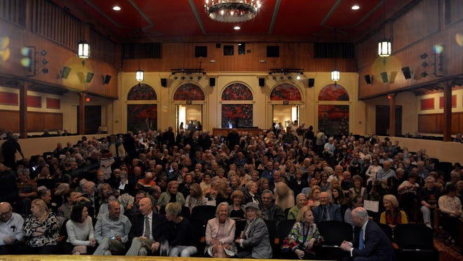 The Society of the Four Arts' Gubelmann Auditorium seats 700, which is not enough to accommodate its 1,150 members and their guests, the organization says.