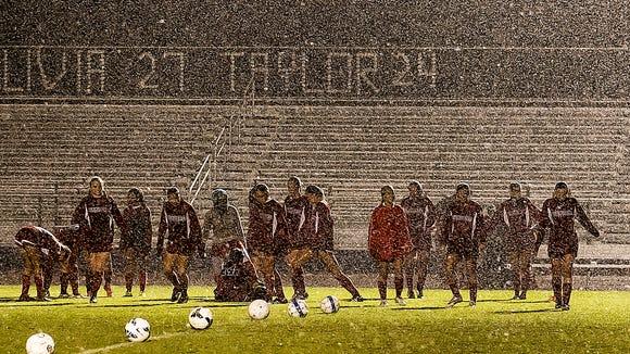 Heavy rains forced the cancallation of the Siegel-Oakland soccer matchJim Davis/DNJ correspondent