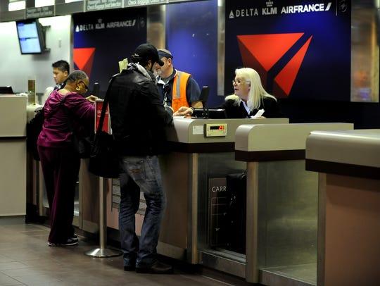 Capital Region International Airport Delta counter
