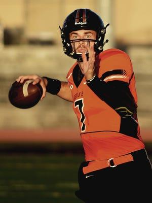 Jake Luton played quarterback for Ventura Community College this past season.