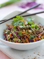 Asian noodle salad, which is meant to be served cold,