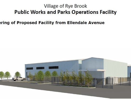 A rendering of Rye Brook's new Public Works facility.