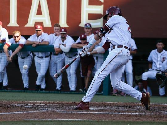 Wells. Jr. hits his second inning three-run home run.