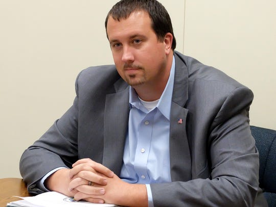 State Rep. Seth Grove, R-Dover Township, sits with