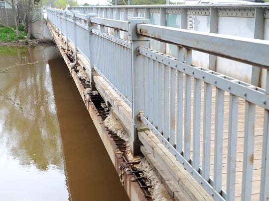 Another view of the deterioration found on Arndt Street Bridge. A total of 19 bridges in Fond du Lac County are deemed structurally deficient by the National Bridges Inventory Database.