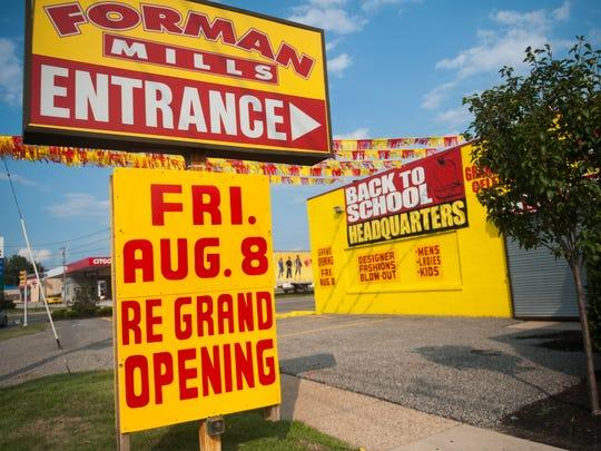 Forman Mills, August 7, 2014 in Pennsauken.