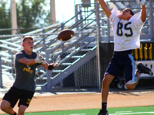 Alamogordo took on Ruidoso High School on Tuesday evening for a friendly 7-on-7 match at Tiger Stadium.