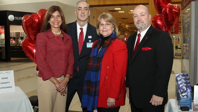 Senator Jennifer Beck, N.J. D-11; Eric Carney, COO, Monmouth Medical Center; Sharon Holden, AVP of Cardiopulmonary, Critical Care, Emergency & Renal Services at MMC; Eatontown Mayor Dennis Connelly
