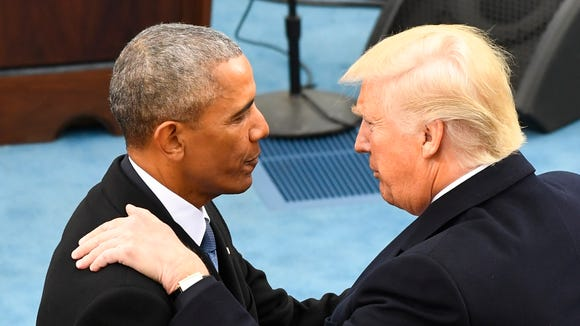 Former President Barack Obama and President Donald Trump