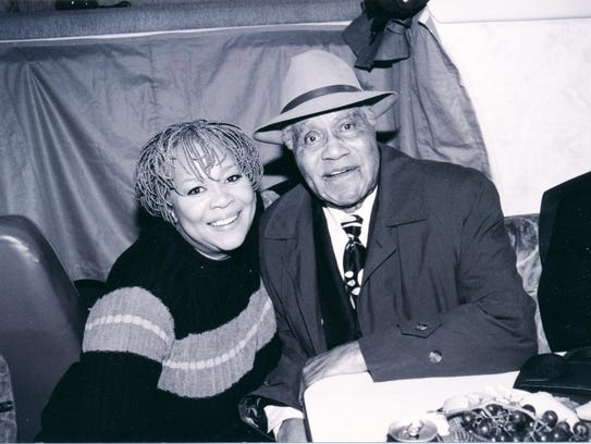 Mavis Staples poses with her father and music mentor,