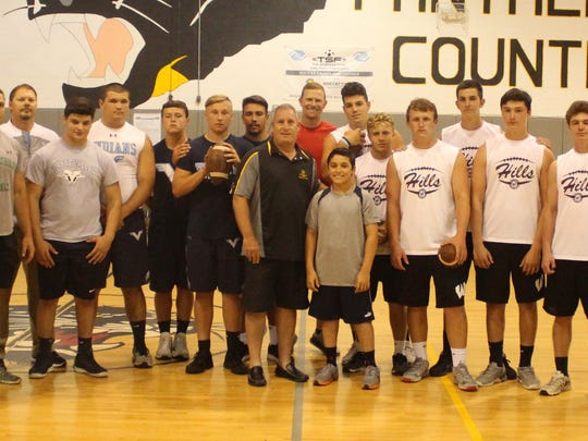 Ryan Neill held a one-day long snapper clinic for high school players at the Wayne Boys Club.
