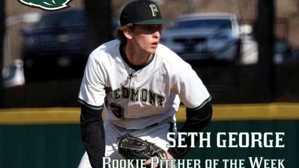 Enka alum Seth George is a freshman for the Piedmont (Ga.) baseball team.