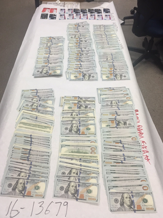Cash recovered in Ventura ID theft arrest