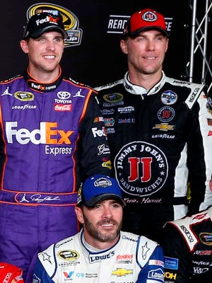 Denny Hamlin, left, Jimmie Johnson, center, and Kevin Harvick, right, have a history of good results at the tracks that make up the third round of the Chase.